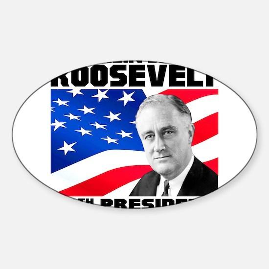 32 Roosevelt Sticker (Oval)