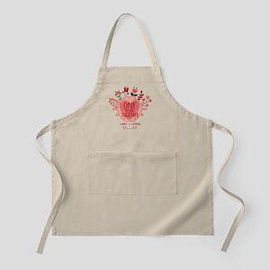 Personalized Retro Floral 1st Year Anniversa Apron