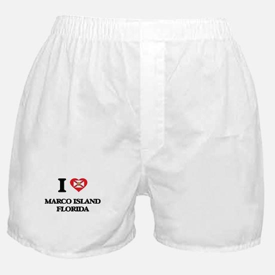 I love Marco Island Florida Boxer Shorts
