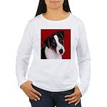 JRT Puppy Ink Sketch Women's Long Sleeve T-Shirt