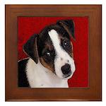 JRT Puppy Ink Sketch Framed Tile