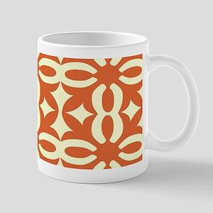 Terra Cotta Victorian Lace Mugs