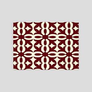 Chocolate Victorian Lace 5'x7'Area Rug