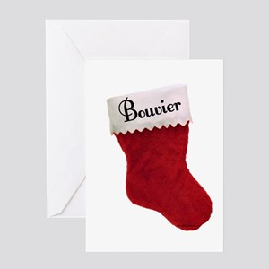 Bouvier Stocking Greeting Card
