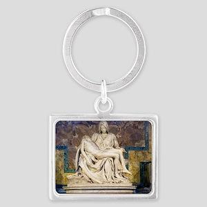The Pietà  Landscape Keychain