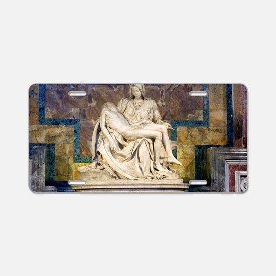 The Pietà  Aluminum License Plate