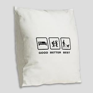 Pumi Burlap Throw Pillow