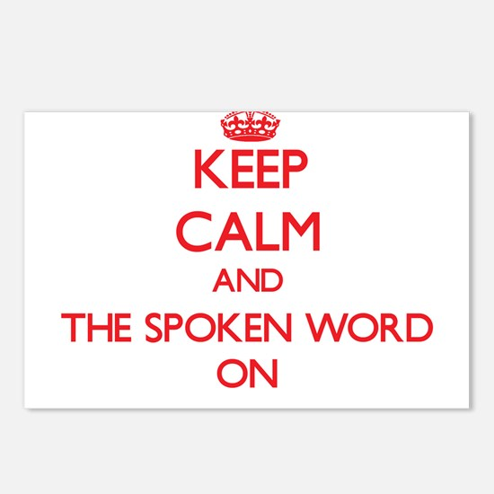 Keep Calm and The Spoken Postcards (Package of 8)