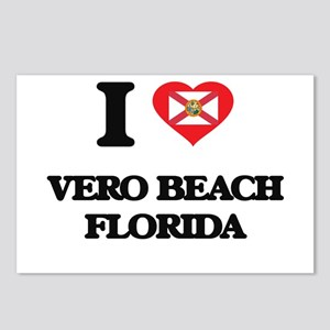 I love Vero Beach Florida Postcards (Package of 8)