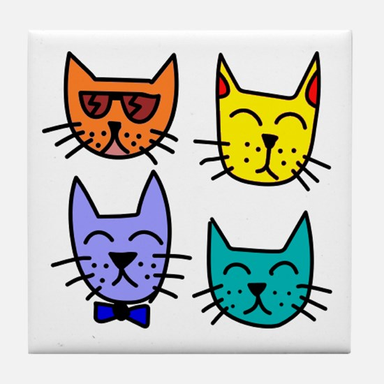 Cool Cats Tile Coaster