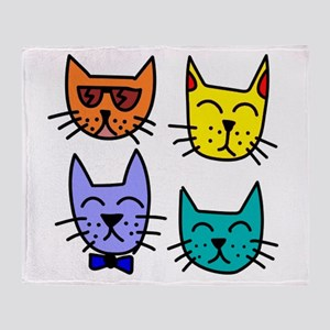 Cool Cats Throw Blanket