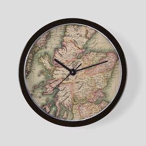 Vintage Map of Scotland (1814) Wall Clock