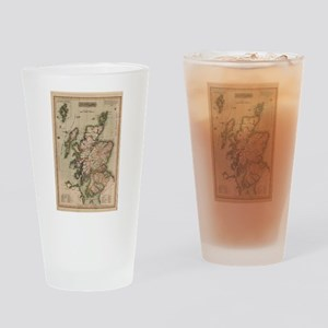 Vintage Map of Scotland (1814) Drinking Glass