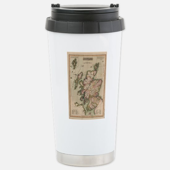 Vintage Map of Scotland Stainless Steel Travel Mug