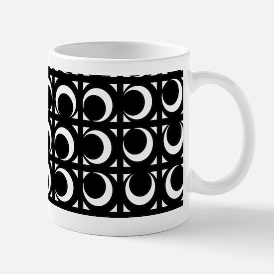 Rolling Crescent black and white Mug
