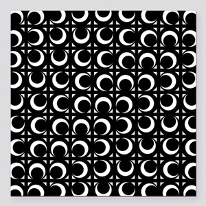 "Rolling Crescent black a Square Car Magnet 3"" x 3"""