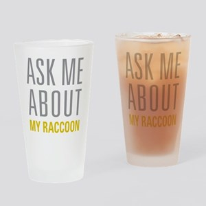 My Raccoon Drinking Glass