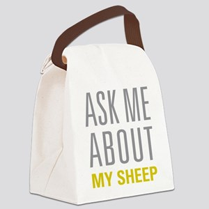 My Sheep Canvas Lunch Bag