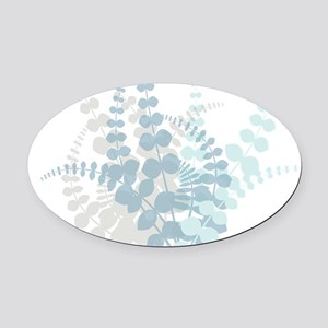 Modern Tropical Floral Oval Car Magnet