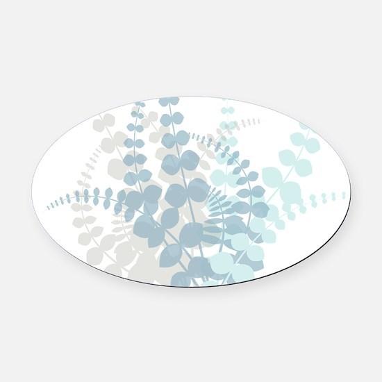 Modern Tropical Floral Oval Car Magnet