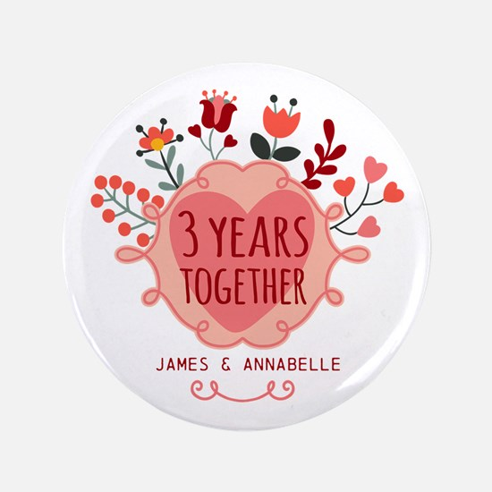Personalized 3rd Anniversary Button