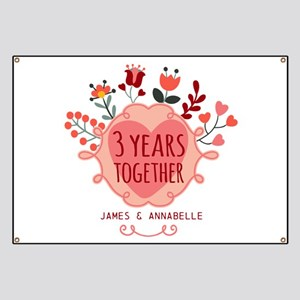 3rd anniversary banners cafepress