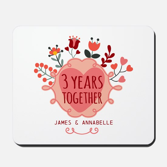 Personalized 3rd Anniversary Mousepad