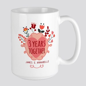 Personalized 3rd Anniversary Large Mug