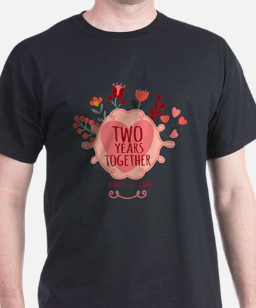 Personalized Gift for 2nd Anniversary T-Shirt