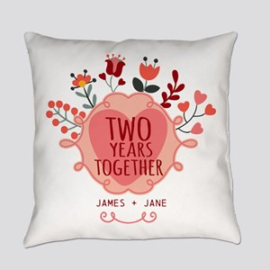 Personalized Gift for 2nd Annivers Everyday Pillow