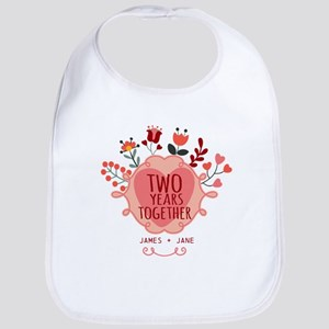 Personalized Gift for 2nd Anniversary Bib