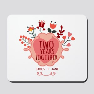 Personalized Gift for 2nd Anniversary Mousepad