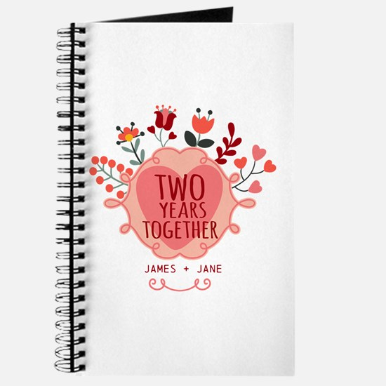 Personalized Gift for 2nd Anniversary Journal