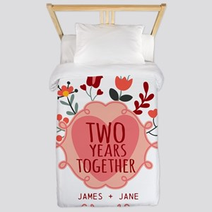 Personalized Gift for 2nd Anniversary Twin Duvet