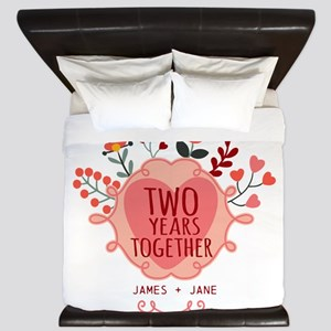 Personalized Gift for 2nd Anniversary King Duvet