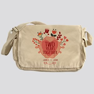 Personalized Gift for 2nd Anniversar Messenger Bag