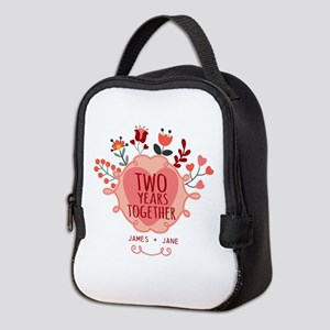 Personalized Gift for 2nd Anniv Neoprene Lunch Bag