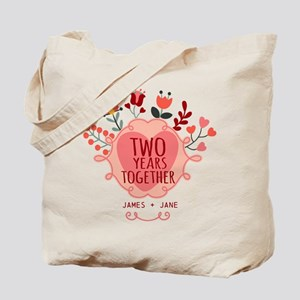 Personalized Gift for 2nd Anniversary Tote Bag
