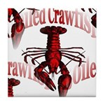 Boiled Crawfish Tile Coaster