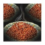 Red Beans Tile Coaster