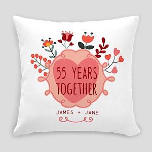 Custom Year and Name Anniversary Everyday Pillow