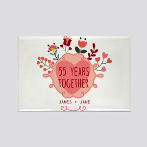 Custom Year and Name Anniversary Rectangle Magnet