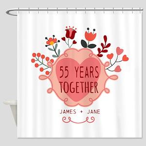 Custom Year and Name Anniversary Shower Curtain
