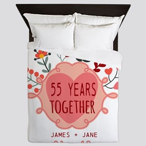 Custom Year and Name Anniversary Queen Duvet