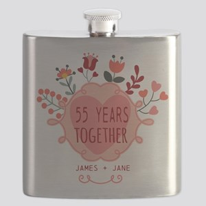 Custom Year and Name Anniversary Flask