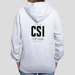 It's a CSI Thing Women's Zip Hoodie
