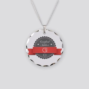 Certified CSI Addict Necklace Circle Charm