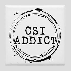 CSI Addict Stamp Tile Coaster