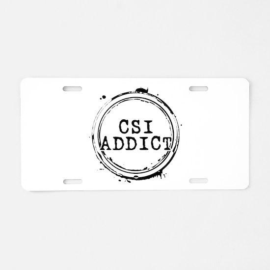 CSI Addict Stamp Aluminum License Plate