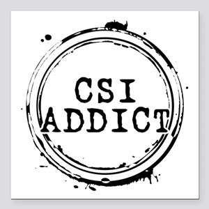 "CSI Addict Stamp Square Car Magnet 3"" x 3"""